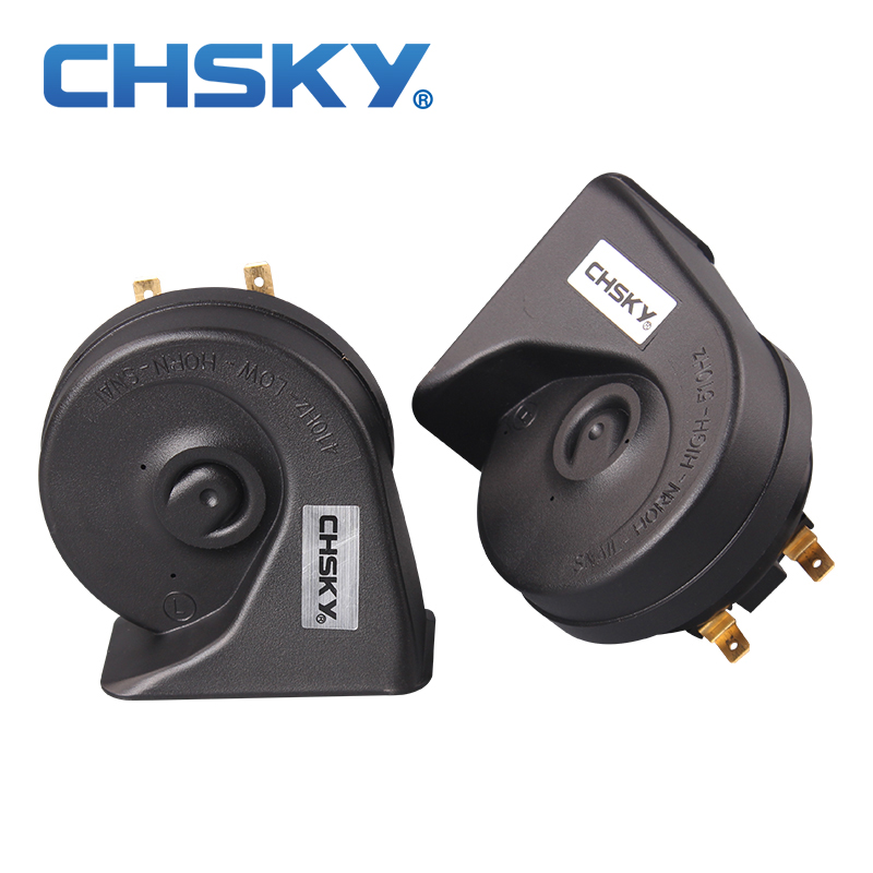 CHSKY New Technology Sound Channel Car Horn 12V Loudness 110-129DB  Auto Horn Long Life Time Car-Styling High Low Klaxon Horn