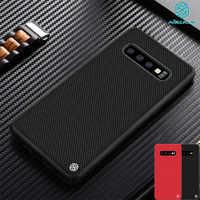 Funda para Samsung Galaxy S10 S10 + Plus S10E NILLKIN textura fibra de nailon duradero antideslizante delgada y ligera funda trasera para S10e