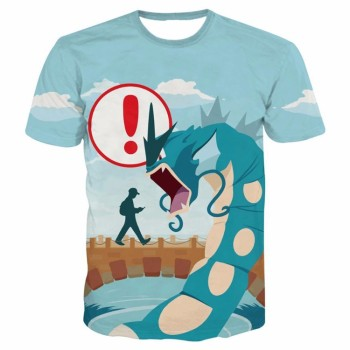 Newest Cartoon Pokemon Go t shirts Mens Loading Screen Prints tshirts Hipster 3D shirt Unisex Funny Dragon Monster Tees Tops