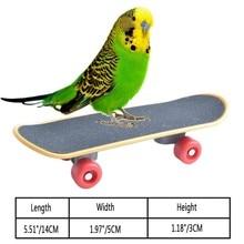 Питомец Попугай Птицы игрушки Забавный интеллект мини-игрушка для скейтборда подставка окунь игрушка для попугая Петухов обучение птиц