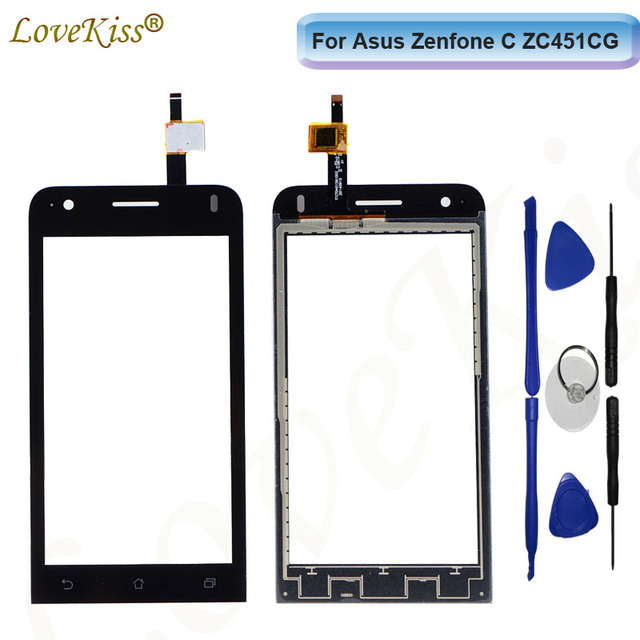 "4.5"" ZC451CG Touchscreen Front Panel Digitizer For Asus Zenfone C Z007 ZC451CG Touch Screen Sensor LCD Display Glass Replacement"
