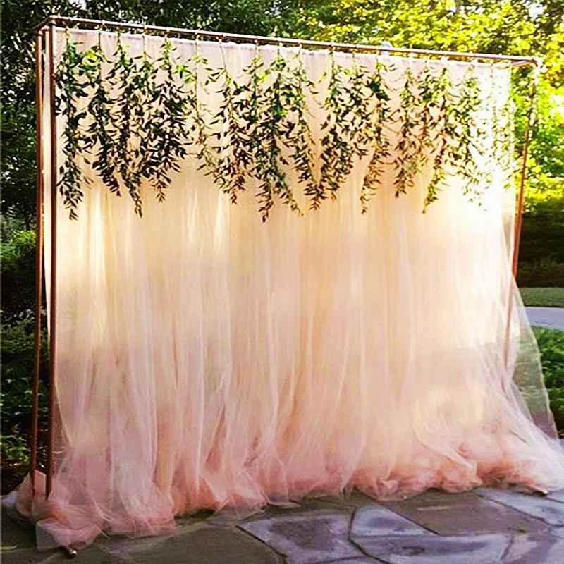 Organze düğün dekorasyon organze kumaş ev parti organze romantik düğün için kumaş TJ0031