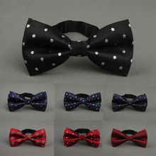 1 PC Men Fashion Classic Colorful Adjustable Dots Gravata Bow Tie Party Wedding Free Shipping