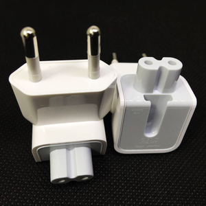 Image 2 - Parede genuína ac destacável cabo de alimentação euro elétrico plugue ue cabeça de pato para apple carregador usb adaptador de energia de transferência de notebook