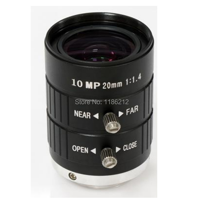 10 MP HD Lens 1/1.8-inch and 2/3-inch sensor F1.4 Manual Iris  20 mm for surveillance and machine vision C Mount10 MP HD Lens 1/1.8-inch and 2/3-inch sensor F1.4 Manual Iris  20 mm for surveillance and machine vision C Mount