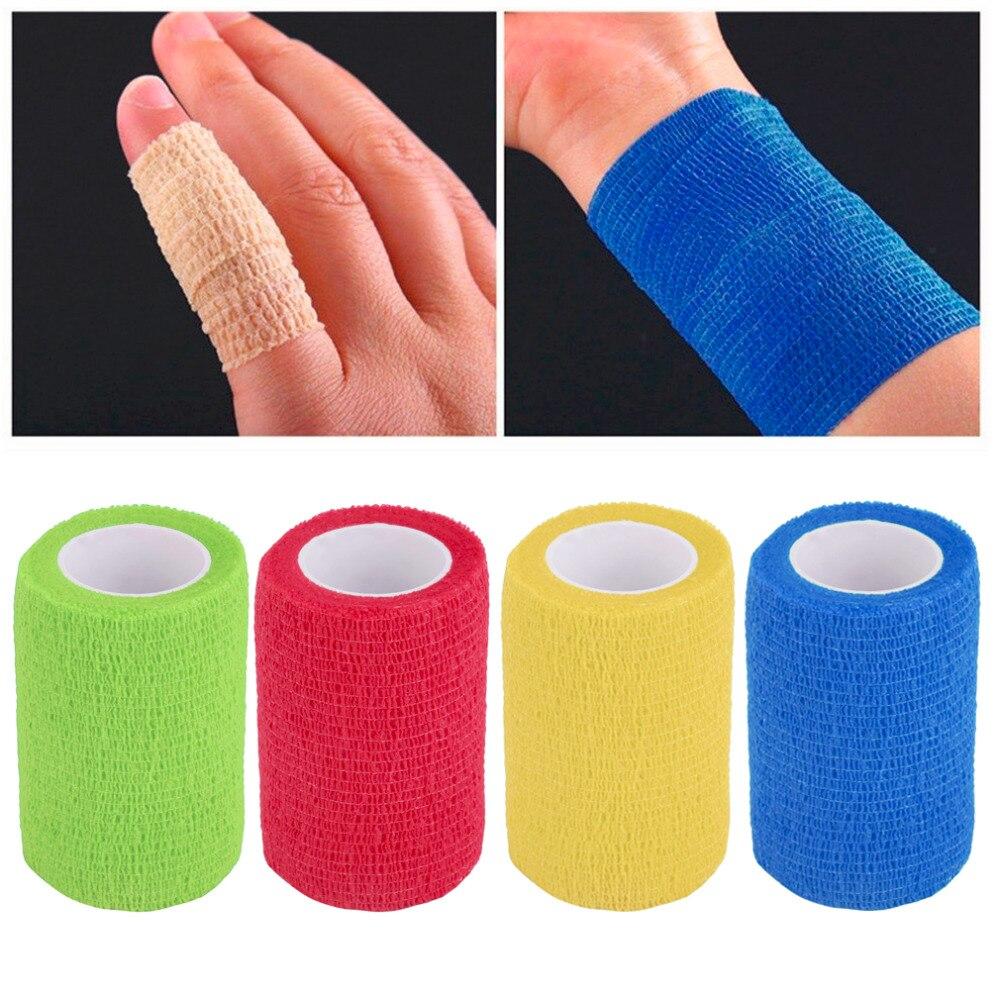 Wholesale 4 5m 7 5cm Self Adhering Bandage Wraps Elastic Adhesive First Aid Tape Gym Bodybuild
