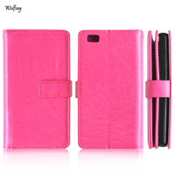 Business Case For Huawei P8 Lite Cover Phone Wallet Flip PU Leather TPU Case For Huawei