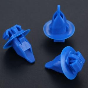 Image 5 - 50 pièces 8mm trou Nylon garde boue bouclier retenue Rivets voiture attache Clips D130 pour Toyota Cruiser Camry Corolla couronne