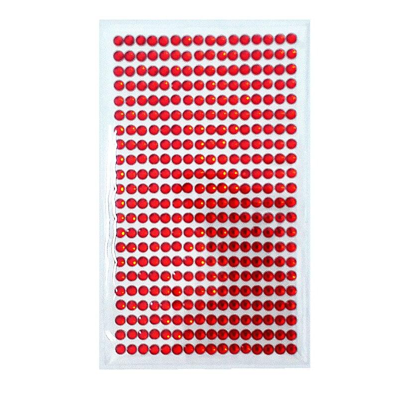 Streng 5mm Acryl Crystal Strip Stickers Red Rhinestone Zelfklevende Bruiloft Muur Meubels Decoratie Platte Kinderen Speelgoed Sticker