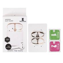 새로운 금속 방진 스티커 이어폰 보호 apple airpods를위한 매우 얇은 먼지 가드 덮개 1 무선 책임 위탁 상자