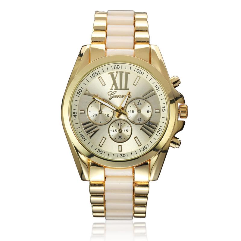 Prix pour 2016 Nouvelle Mode Genève Montre En Céramique Femmes Robe Montre Or Poignet Casual Montres Horloge Femelle Genève Relogio Feminino dourado
