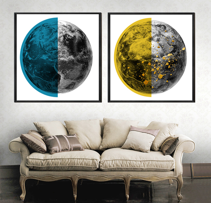 Top Wall Deocr Canvas Painting Abstract earth series Modern Printed Oil Pictures Living Room No Frame 12YM 209 in Painting Calligraphy from Home Garden