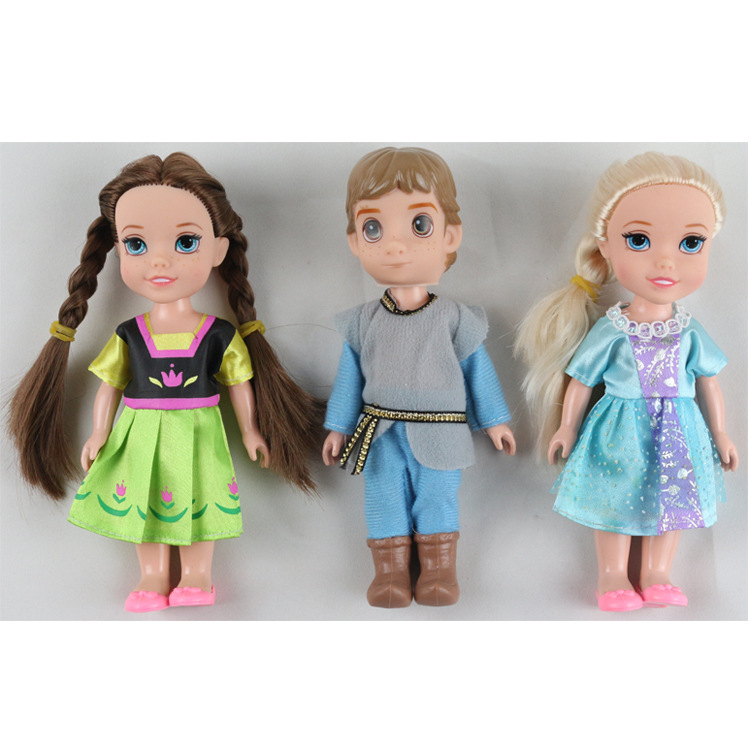 Disney 16cm Princess Toys Model Frozen Doll 16 Inch Elsa Anna Ice and Snow Dolls for Childrens Christmas Gift