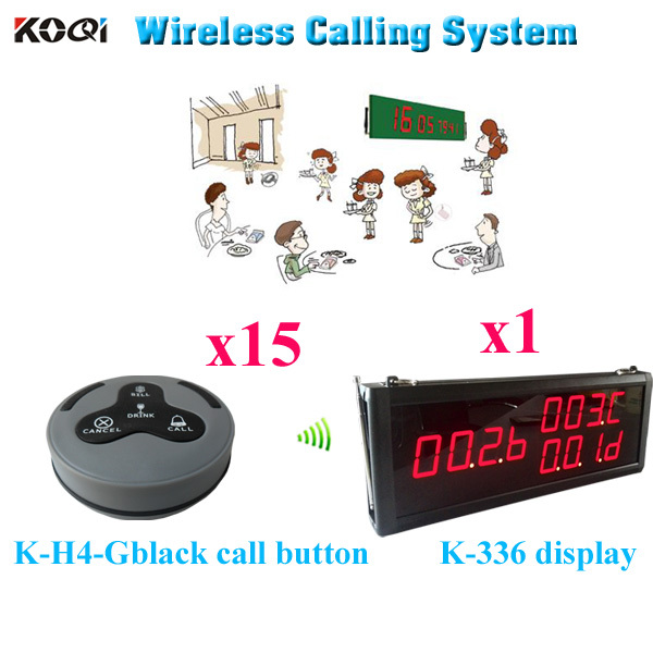 Wireless Panic Button Emergency Calling System Safe Delivery Small Electronic Buzzer( 1 display 15 call button)
