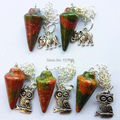 (Min. Order is $10)5pcs Beautiful Unakite Gem Pendulum Pendant Bead A09706