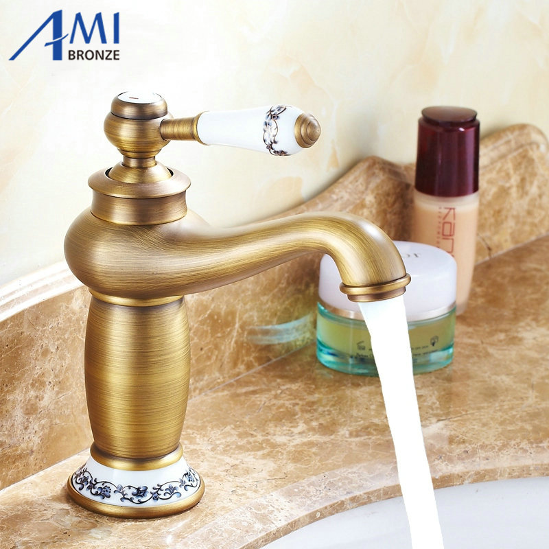 Free shipping Contemporary Antique Brass faucets Bathroom Sink Basin Faucet  Mixer water Tap Home Improvement 9031APFree shipping Contemporary Antique Brass faucets Bathroom Sink Basin Faucet  Mixer water Tap Home Improvement 9031AP