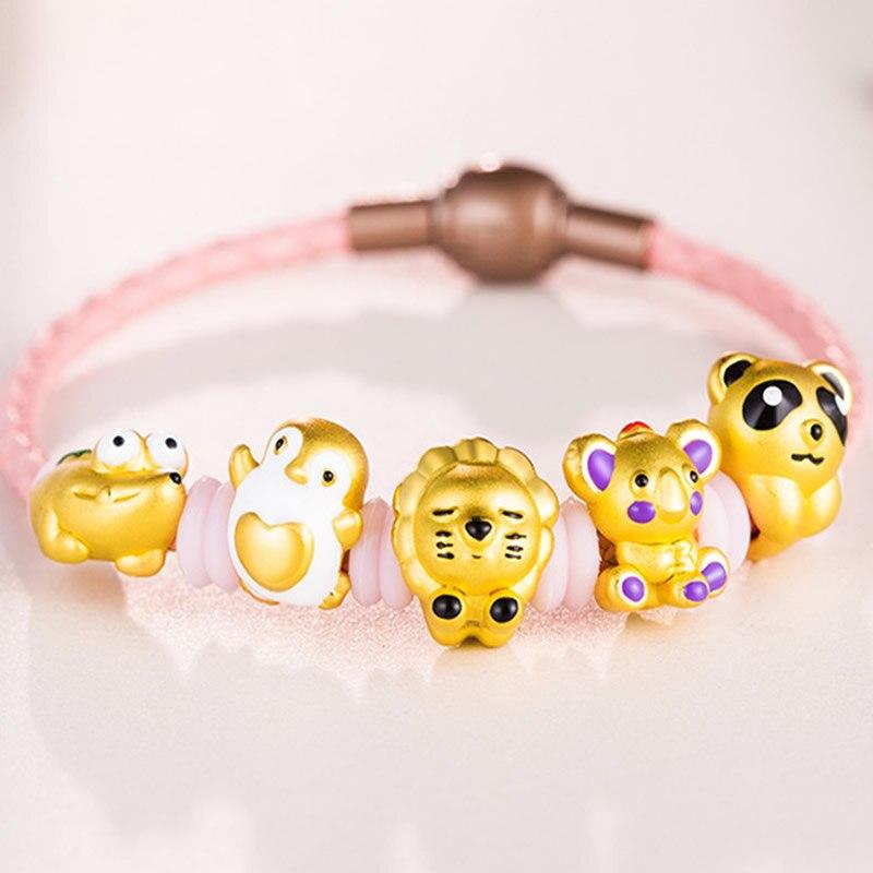 Pure 24K Yellow Gold Bracelet 3D 999 Gold Animal Bracelet Pure 24K Yellow Gold Bracelet 3D 999 Gold Animal Bracelet