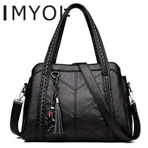 Top-Handle Bags Women Tassel Tote Luxury Spiraea Women Shoulder Messenger Bags Designer High Quality Leather Handbag Cute Cat