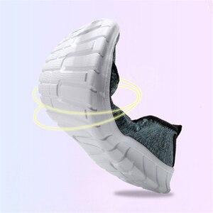 Image 4 - Jianbudan/경량 스 니 커 즈 여름 여성 야외 크롤링 신발 통기성 플랫 캐주얼 신발 여성 워킹 신발 36 45