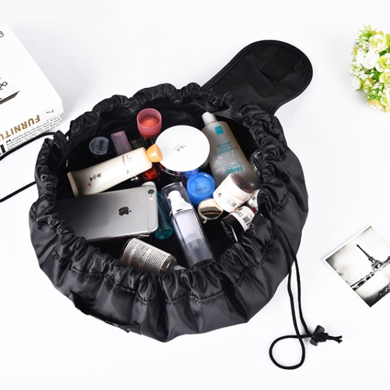 Women Travel Cosmetic Bag Nylon High Capacity Drawstring Wash Bags Makeup Organizer Storage Bag Travel Necessary Make Up Bag