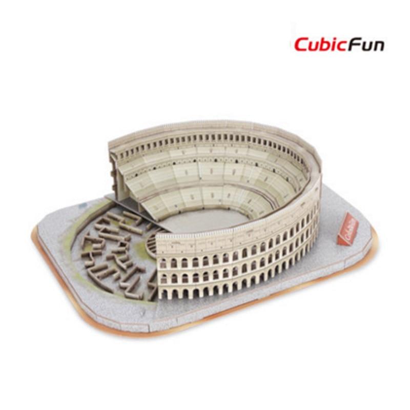 Cubicfun 3D Puzzle Paper Model, Handmade The Roman Colosseum DIY Puzzle 3D Model, Educational Toys For Children, Christmas Gifts wat phra kaew cubicfun 3d educational puzzle paper