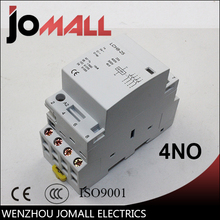 super quality 4P  25A 220V/230V 50/60HZ din rail household ac contactor 4NO