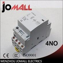 цена на super quality 4P  25A 220V/230V 50/60HZ din rail household ac contactor 4NO