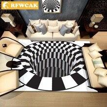 RFWCAK, современный нескользящий ковер с 3D принтом, коврик для гостиной, спальни, журнальный столик, коврик для прихожей, коврик для двери, коврик для двери