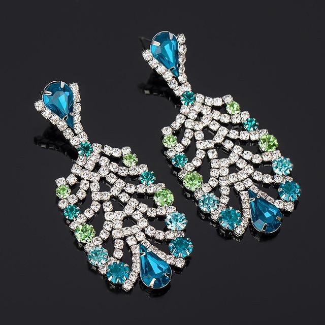 YFJEWE Women s Fashion Popular Mixed Color Rhinestone Earrings Vintage  Bottle Shape Drop Earrings Wholesale  E055 e5381123fbf6