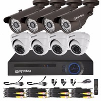 Eyedea DVR 8 CH 1080P Recorder 2 0MP Bullet Dome Outdoor Night Vision Supermarket Surveillance Home