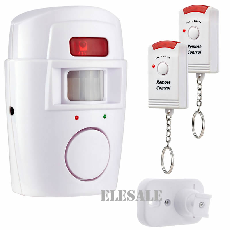 Wireless PIR Motion Sensor Detector Alarm With 2 Remote Controls Door Window For Home Shed Garage Carvan Alarm Security System neo coolcam nas pd02z new z wave pir motion sensor detector home automation alarm system motion alarm system eu us version