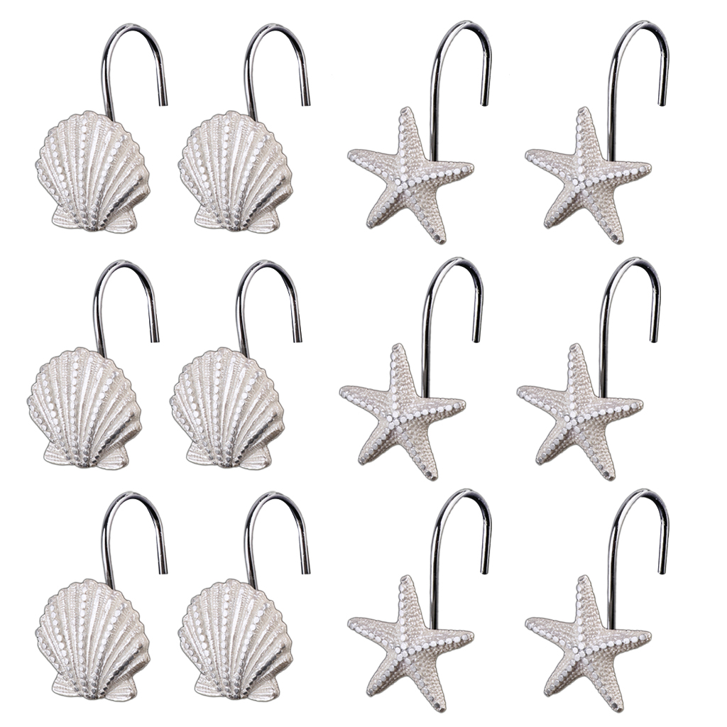 MagiDeal 9 Styles12 Piece Shower Curtain Hook Drapery Valance Hanger Home  Cafe Hotel Decor(China
