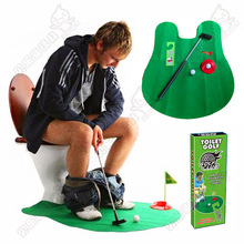 High quality toilet mini golf training adult childrens Toy toys Golf club ball floor flag Sports activities