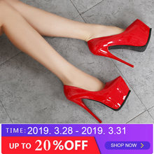 94a8f58792 2019 fashion women Super High Heels shoes Concise platform shoes Thin  summer shoes pumps Wedding Party Sexy 14cm shoes RA-30