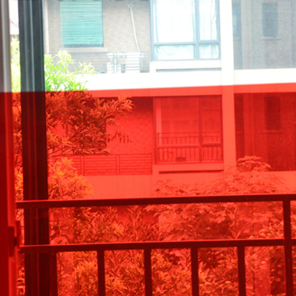 Red Window Tint >> Us 55 6 20 Off Magic Red Window Tint Film Home Office Hotel Nightclub Decorative Colored Window Film In Decorative Films From Home Garden On