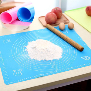 Image 2 - 1pc 비 스틱 실리콘 매트 롤링 반죽 라이너 패드 과자 케이크 Bakeware 붙여 넣기 밀가루 테이블 시트 주방 도구
