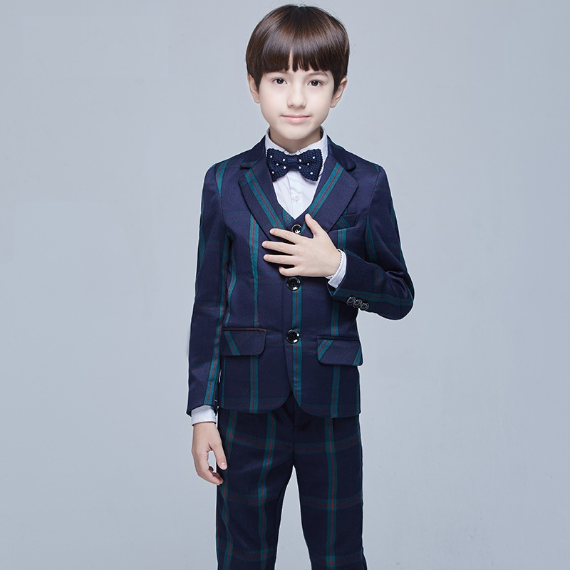 Top Quality Child Suit Set British Style Child Suit Boys Formal European Style Dress Suit+pant ...