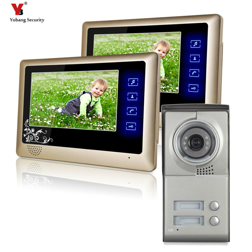 Yobang security 7 door entry intercom system door access for Door intercom