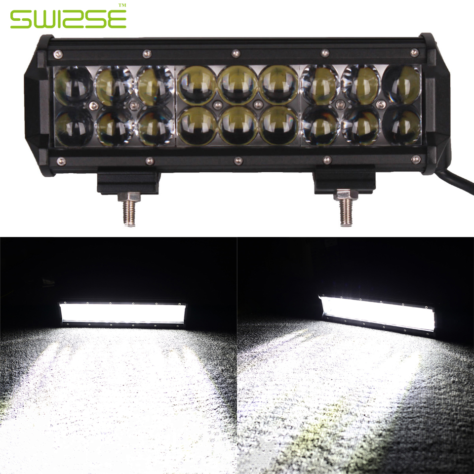 High Bright 9 Inch 90W Offroad LED Work Light Bar Spot Flood Combo Car Truck Trailer SUV Boat Pickup 4WD 4X4 12V 24V Headlight spot flood combo 72w led working lights 12v 72w light bar ip67 for tractor truck trailer off roads 4x4 led work light
