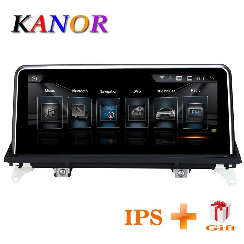KANOR 10.25 polegada 32 2g + g Android 7.1 rádio car multimedia player para BMW X5 E70 X6 E71 2011 2012 2013 com CIC sistema