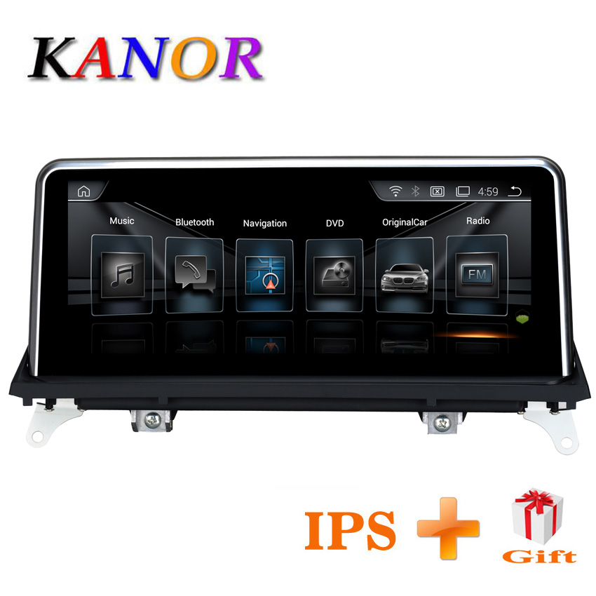 KANOR 10.25 pouces 2g + 32g Android 7.1 autoradio lecteur multimédia pour BMW X5 E70 X6 E71 2011 2012 2013 avec CIC système