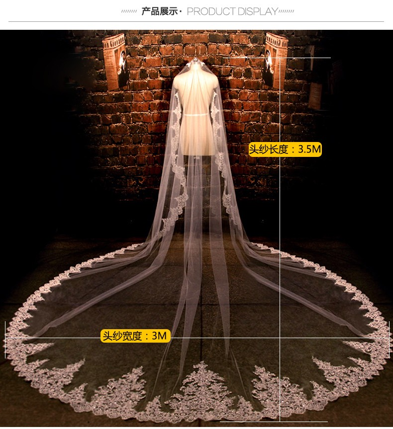 In-Stock-3-5-Meters-Long-Wedding-Veil-Bridal-Veils-White-Ivory-Lace-Edge-Wedding-Accessories (2)