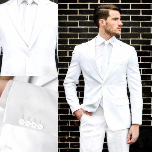 Mariage Cravate Picture Bleu custom 2 Pièces Personnalisé Slim Color Blanc  Costumes Marié Terno Costume marine veste Blazer Hommes Bal Fit ... 896d605dd39