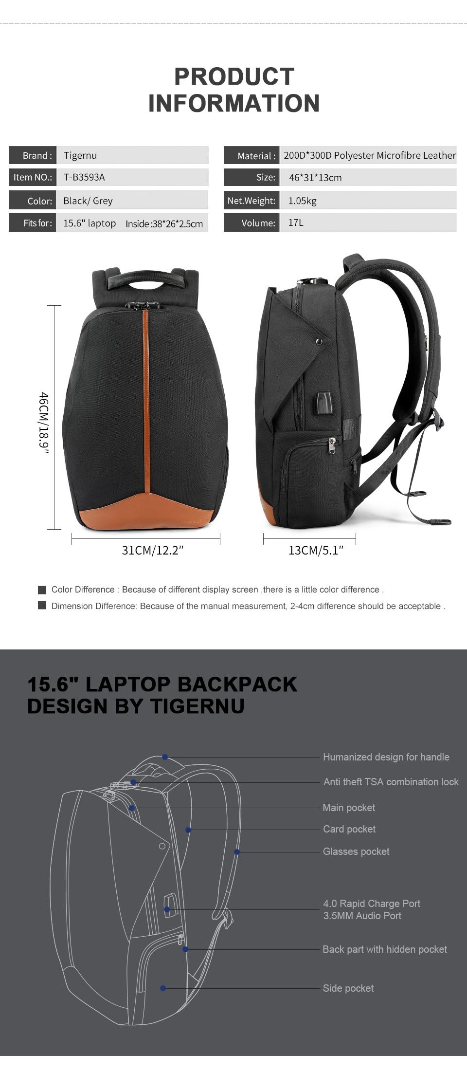 Product informatie en indeling praktische en stijlvolle rugzak