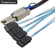 SFF 8088 TO 4x SATA 7Pin Mini SAS 26P TO 4SATA кабель L = 1,0 м