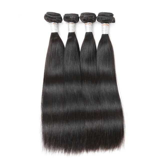Sleek Peruvian Straight Hair 4 Bundles Deal Remy Human Hair