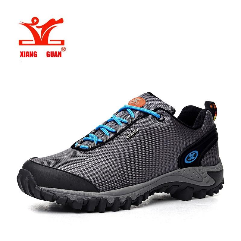 ФОТО XIANGGUAN man Hiking Shoes Breathable Air Mesh Damping Outdoor Sport Shoe women Comfortable Outdoor Zapatos Hombre size 36-44
