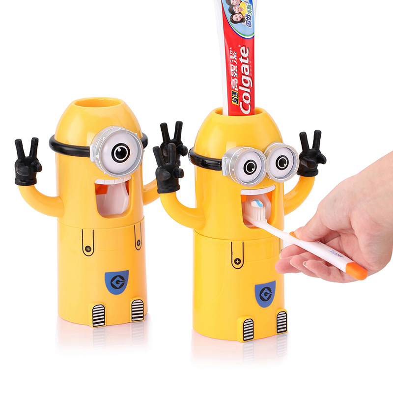 Children's Automatic toothpaste dispenser Toothbrush Holder Products Creative bathroom accessories Toothpaste Squeezer image