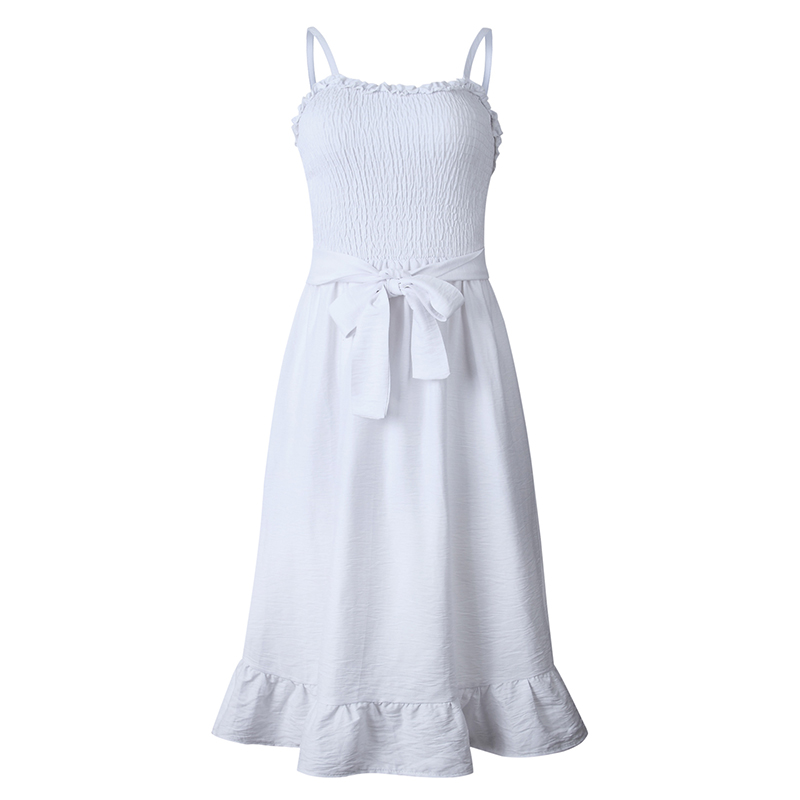 ruffles pleated boho summer beach dress (19)