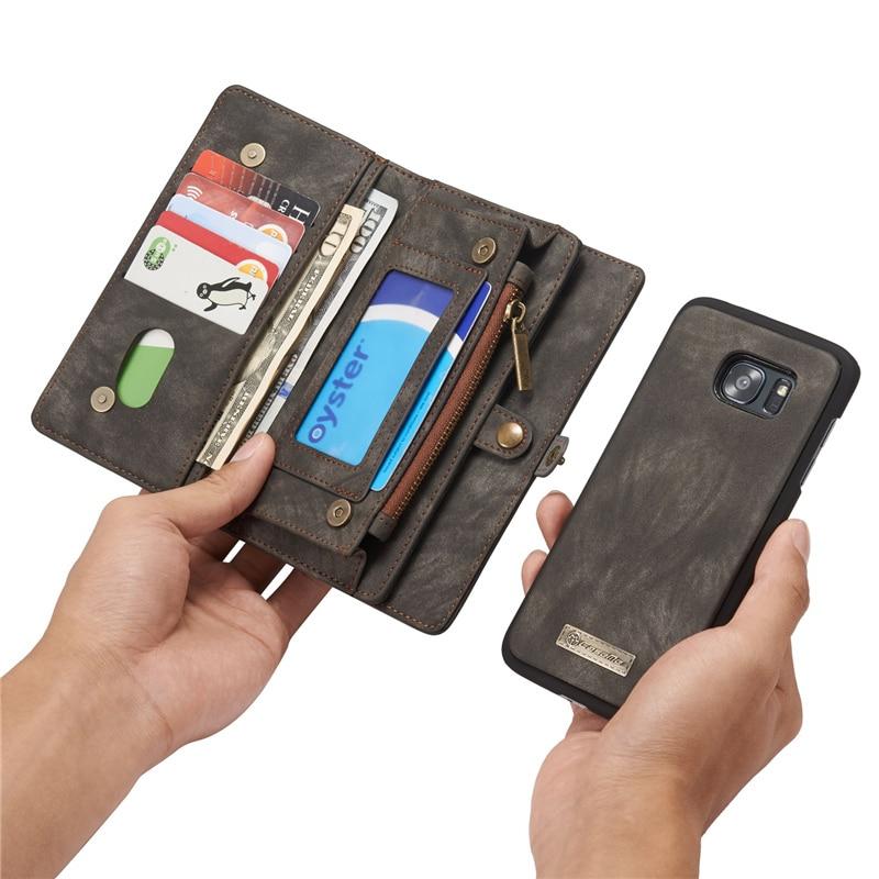 Samsung Galaxy S9 S9 S8 Plus S7 kənar üçün lüks flip dəri - Cib telefonu aksesuarları və hissələri - Fotoqrafiya 5